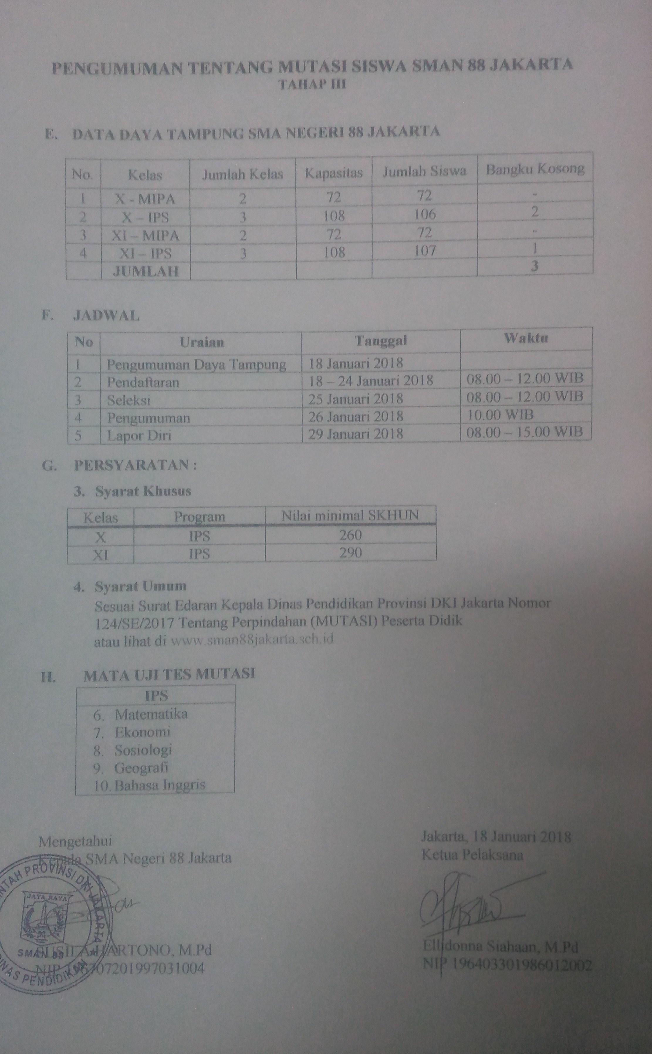 PENERIMAAN MUTASI TAHAP III