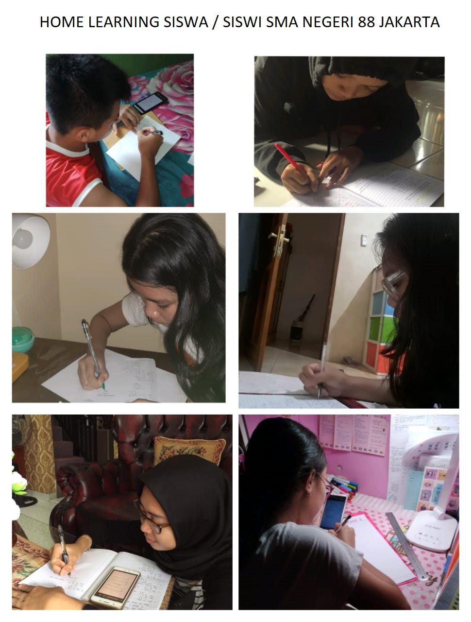 KEGIATAN SISWA / SISWI HOME LEARNING
